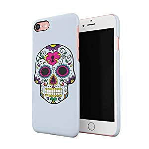 Blue Native Sugar Candy Mexican Skull Hard Thin Plastic Phone Case Cover For iPhone X, iPhone XS