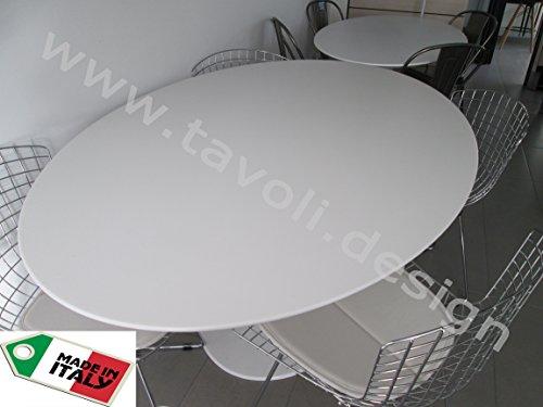 Beistelltisch Saarinen TULIP Oval 235x121 lackiertes und hochfestes Holz - weiβ