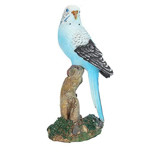 Oumefar Modèle d oiseau Bleu Simulation Oiseau résine Artisanat 8 x 7 x 16 cm pour Salon Jardin Balcon Cour