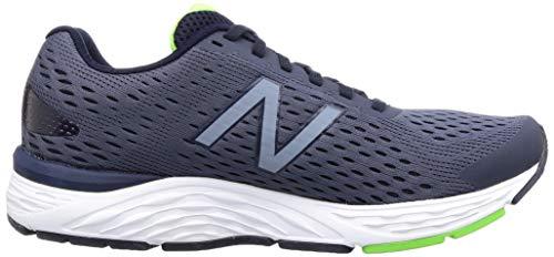 New Balance Men's 680 V6 Running Shoe, Pigment/RGB Green, 11 4E US 7