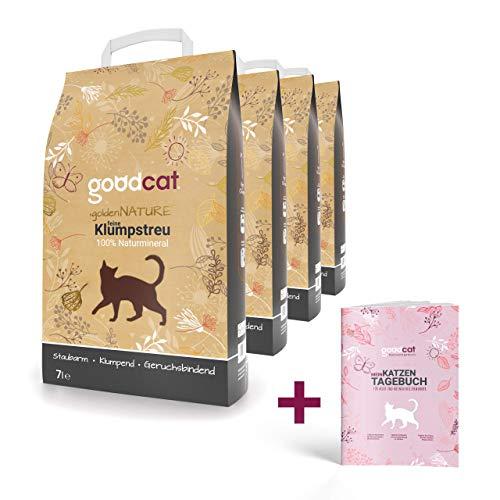 goodcat golden Nature Katzenstreu - 7 Liter Klumpstreu (4x7 Liter)