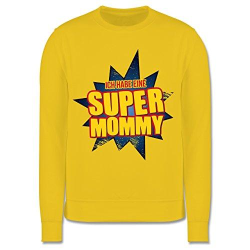 Shirtracer Sprüche Kind - Ich Habe eine Super Mommy - 104 (3/4 Jahre) - Gelb - JH030K - Kinder Pullover