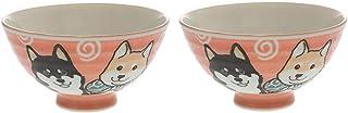 Japanischer Shiba Hund Reisschüssel-Set, authentisches Mino