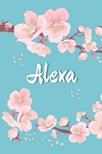 Floral Notebook For Alexa: Personalized Alexa Journal | Birthday gift for Alexa