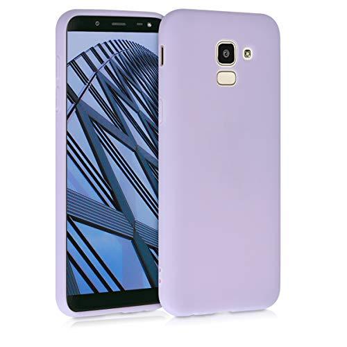 kwmobile Custodia Compatibile con Samsung Galaxy J6 - Cover in Silicone TPU - Back Case per Smartphone - Protezione Gommata Lavanda