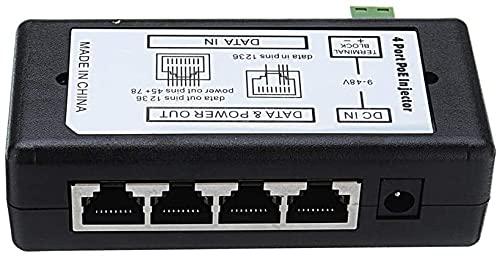 RIMEI 4ports PoE Inyector PoE Splitter para CCTV Network PoE Cámara Power sobre Ethernet IEEE802.3AF 5pcs Piezas de módulo de electrónica