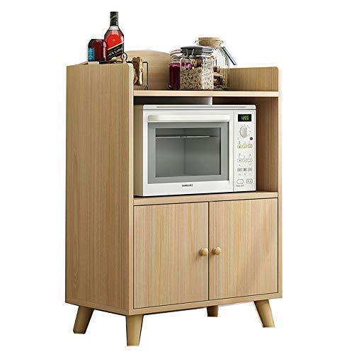 Aparador practico Cocina Comedor Consola Sala de Estar con Puerta Accent Buffet Aparador Servicio Locker Gabinete de Almacenamiento de Restaurante (Color : Wood, Size : 60x40x90cm)