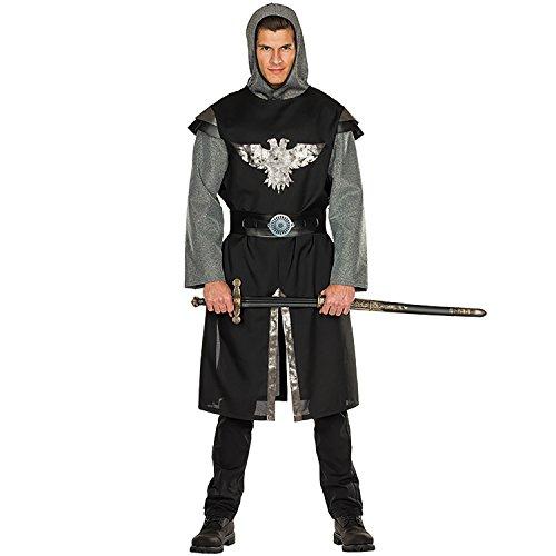 Rubie's Hemd Ritter Herren mit Gürtel schwarz Größe: 52