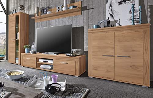Wohnwand Anbauwand Kernbuche Wohnzimmerschrank TV (1510)