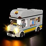 FYHCY Juego de iluminación LED para Autocaravana de Vacaciones Lego 60283 City, Juego de iluminación LED para Lego 60283 (Solo Juego de Luces)