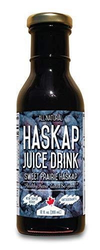 Sweet Prairie Haskap | Pure Haskap Juice | Potent All Natural Antioxidant Extract | High Polyphenol Concentration | 12 Servings, 12oz