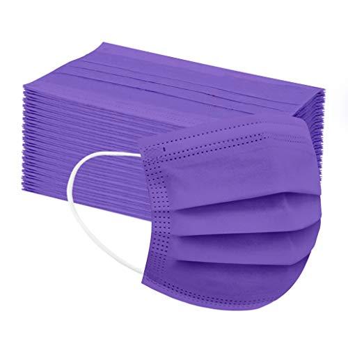 50 Stück Kinder Mundschutz Einweg 3-lagig Atmungsaktiv Face Cover, Kinder Accessory Schutz, Outdoor Anti-Staub Bandana Loop