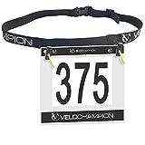 VeloChampion Cinta para nœmero de competicion de Triatlon - Tambien para Carreras Triathlon Race Number Belt