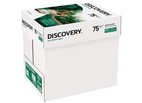 Discovery Carta A4 75 g/mq, Bianco, Confezione 5 x 500 fogli (5 Risme)