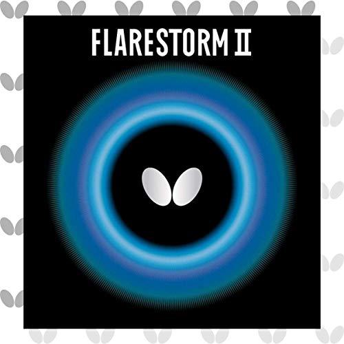 Butterfly Flarestorm II - Hoja de goma para tenis de mesa (1,9 mm o 2,1 mm), color rojo o negro