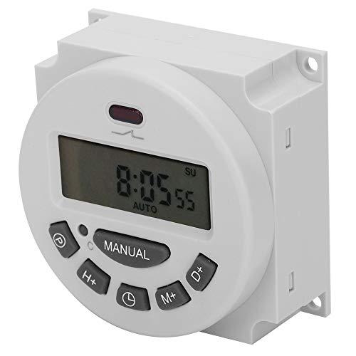 Kleiner stabiler Leistungs-Timer-Steuerschalter, digitaler Zeitschalter, für Werbung Leuchtkästen Rundfunkgeräte Lampenlicht Elektrogeräte