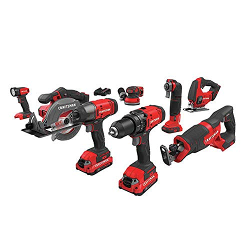 Craftsman Cordless 8 Home Tool Combo Kit with Drill Machine