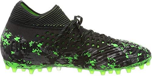 Puma Future 19.1 Netfit MG, Scarpe da Calcio Uomo, Nero Black-Charcoal Gray-Green Gecko, 44 EU