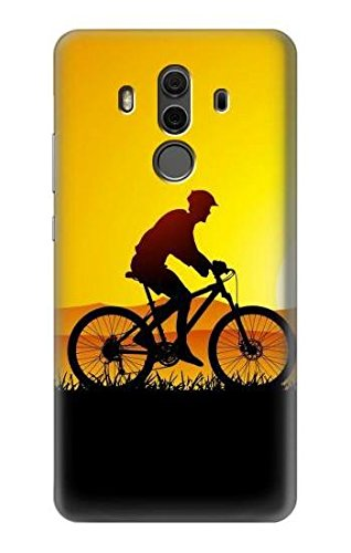 Bicycle Bike Sunset Etui Coque Housse pour Huawei Mate 10 Pro, Porsche Design