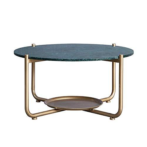 ZJN-JN Mesa Mesa de café de mármol Mesa Auxiliar de Oficina Mesa de café Sofá Comedor Informal Rectangular Mesa Auxiliar básico Decoración Sofá Mesa Lateral Final (Color: Metálico, Tamaño: 80x42cm)