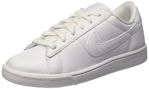nike womens tennis classic trainers 312498 sneakers shoes (US 8.5, white blue 129)