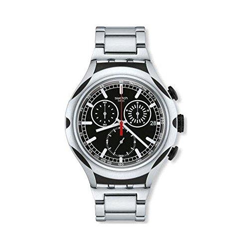 Swatch Herrenuhr Chronograph Quarz mit Aluminiumarmband – YYS4000AG
