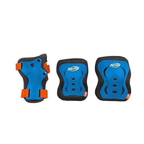 Spokey Hasbro Nerf Protectores de 6 Piezas para ninos (25-50 kg) Unisex   Ptorectores Duros en tamado Desde S hasta L y 2 Colores   Armadura Skater de Alto Impacto