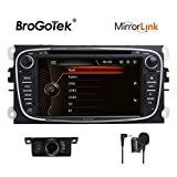 Estéreo de coche para Ford en salpicadero doble Din video audio GPS Navgiation DVD CD Radio Bluetooth 3G USB SD para Ford Focus Mondeo C-MAX S-MAX Galaxy Kuga 7 pulgadas