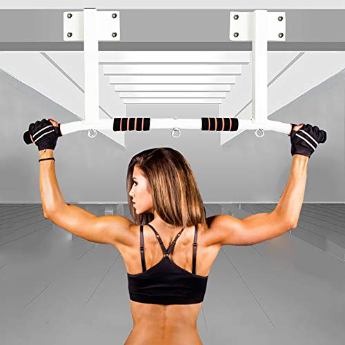 KAILUN Professional Chin Up Bar Pull-Up Device Including Dip Bar & Power Ropes, Folding Door Bar, Secure Door Frame Assembly at Home Without Screws