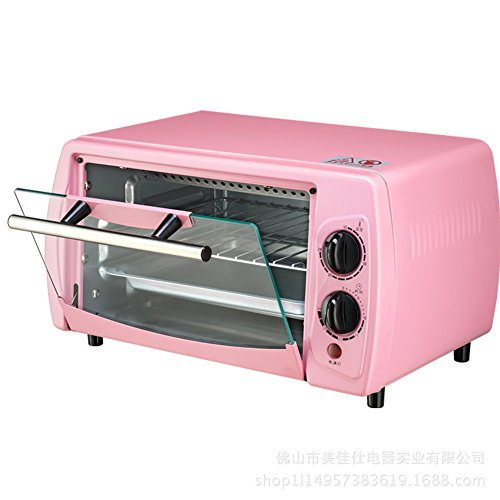 DULPLAY Toaster Oven,Best Convection,Mini,12L,Capacity,Digital Dining,Countertop Oven Pink Digital Polished Stainless Toast Home Kitchen-Pink 36x21x21cm(14x8x8inch)