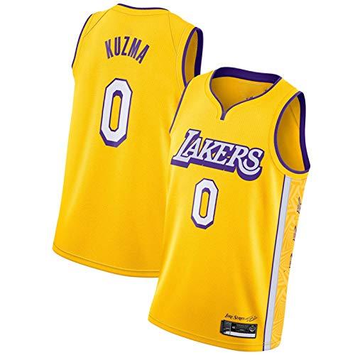 WXZB Camiseta de baloncesto para hombres Lákéř # 0 ylé zmá, nueva temporada, transpirable, para fans de baloncesto, camisetas y tops amarillos C-L