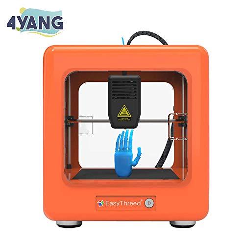 4YANG Mini imprimante 3D Portable Mini imprimante 3D entièrement assemblée avec Logiciel de Tranchage 90 * 110 * 110mm pour l'éducation Domestique et Les Cadeaux d'enfants de Bricolage