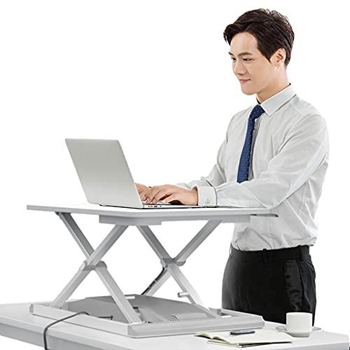 26,8' Altura Ajustable Convertidor Escritorio Pie Estación Trabajo con Elevador Escritorio Sit Stand con Elevación Eléctrica para Casa Oficina