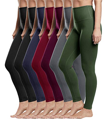 High Waist Leggings for Women-Tummy Control & Soft Opaque Stretchy Pants for Yoga