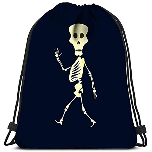 Drawstring Bags Skeleton Halloween Mons-TER Plegable Cinch Bag Bolsas Mochila con Cordón Mochilas con Cordón Mochila Cinch Casual Travel