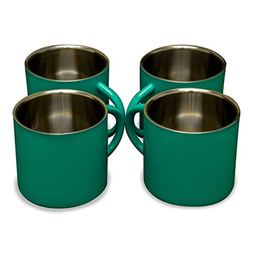 Farnsworth & Lloyd Black Stainless Steel Double Wall Espresso Cups