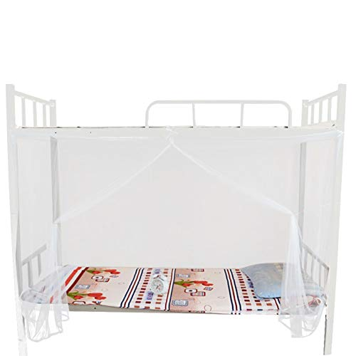 Enkelt att sätta ihop nät 4 hörn nätstorlek nät för skolan sovsal upp och ner stil säng(95x195x150cm)