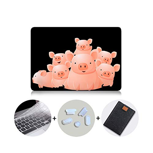 Double-sweet Cute Cartoon Case for MacBook Air Pro 11 12 13 15 16 with Touch bar Pink Cover for mac Book pro 13 2020 Laptop Case Sleeve-MB12-Pro 13 A1278 CD-ROM