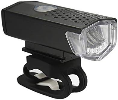 se adapta a todas las bicicletas bater/ía de litio de 800 mah Lilon Juego de luces recargables USB para bicicleta luz LED para bicicleta delantera s/úper brillante f/ácil de instalar modo de 3 luces