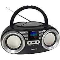 Radio CD INFINITON Boombox (Lector de CD/Mp3/WMA, USB. Radio FM, AUX, Display LED) (SIN Bluetooth, Negro)