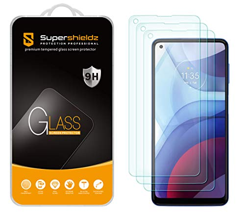 (3 Pack) Supershieldz Designed for Motorola Moto G Power (2021) [Not Fit for 2020 Version] Tempered...