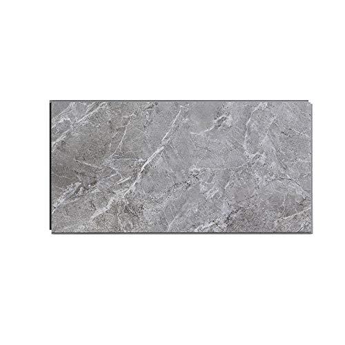 Interlocking Vinyl Wall Tile by Dumawall – Waterproof, Durable 21.9 in x 11.2 in Wall/Backsplash Panels for Kitchen, Bathroom, or Shower (10 Panels) (Light Gray Slate)