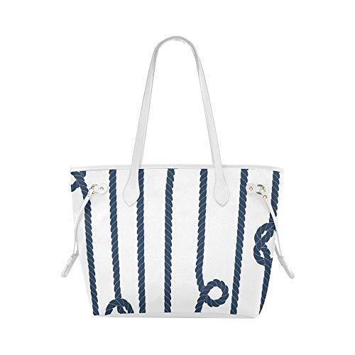 Cool Shoulder Bag Marine Rope Knot Navy Ocean Tote Duffel Bag College Tote Bag Large Capacity Water Resistant With Durable Handle