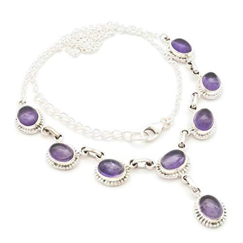Amethyst Collier 925 Silber Sterlingsilber Kette Halskette lila (MCO 07-01)