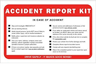 Vehicle Accident Report Kit in Envelope 10-pk. - No Camera - J. J. Keller & Associates - Helps Drivers Collect, Organize & Report Vehicle Accident Information
