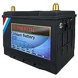 Batterie LifePo4 12v 80Ah 3000-7000 Cycles profonds avec fer au lithium BMS pour moteur de pêche à la traîne Panneaux solaires RV Appareils bateau Chariots de golf marins avec chargeur