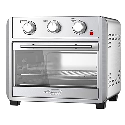 Brentwood Select AF-2410S 24-Quart Convection Air Fryer Toaster Oven, Dehydrate, Broil, Bake, with 60 Minute Timer, Stainless Steel