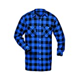 CRAFTLAND Flanellhemd Webflanell Extralang- Gr. XXL, Blau