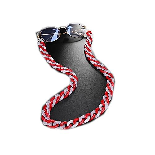 Eyeglass - Cadena para gafas de sol y gafas de sol para mujer, acrílico, antideslizante, lectura, gafas, cordón para cuello, correa de cuerda, gafas, correa de regalo