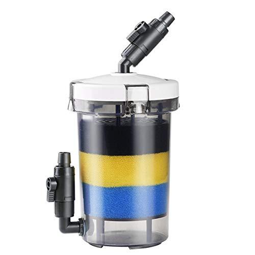 Heritan Filtro de acuario Ultra-silencioso externo acuario filtro cubo LW-603 acuario filtro equipo delantero hierba tanque silenciar barril externo